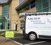 commercial window cleaners in Bolton using Reach & Wash