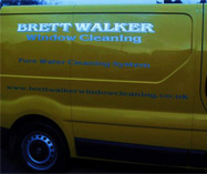Brett Walker window cleaning van